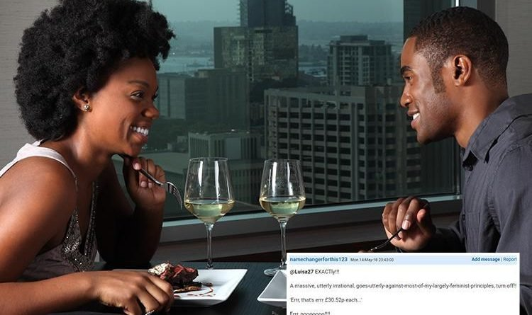Who pays for dinner when dating turns