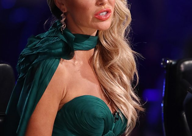 Britains Got Talents Amanda Holden in gown while Alesha