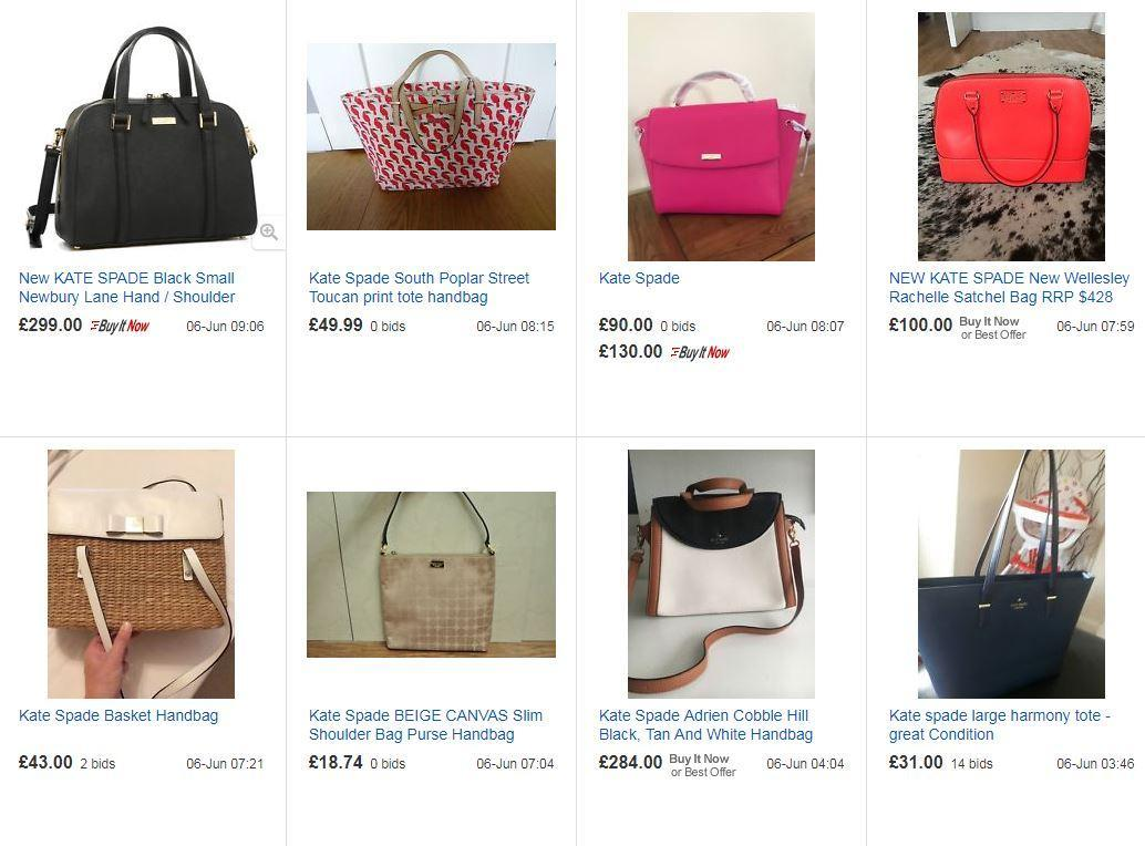 Numerous Kate Spade Bags And Accessories Have Sprung Up On Ebay Since News Of Her Spread Tuesday