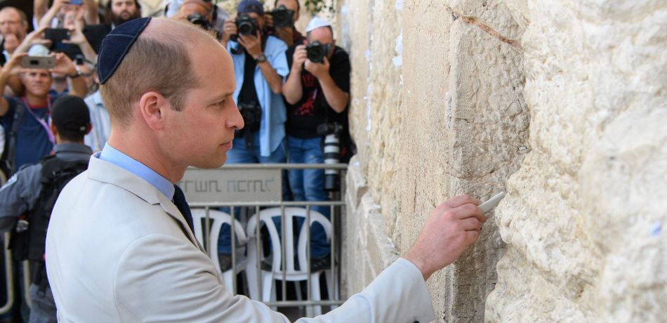 Prince William at Western Wall: May the God of Peace