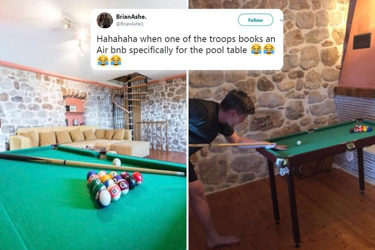 Brits Who Booked Airbnb Property For The Fullsized Pool Table - Travel pool table