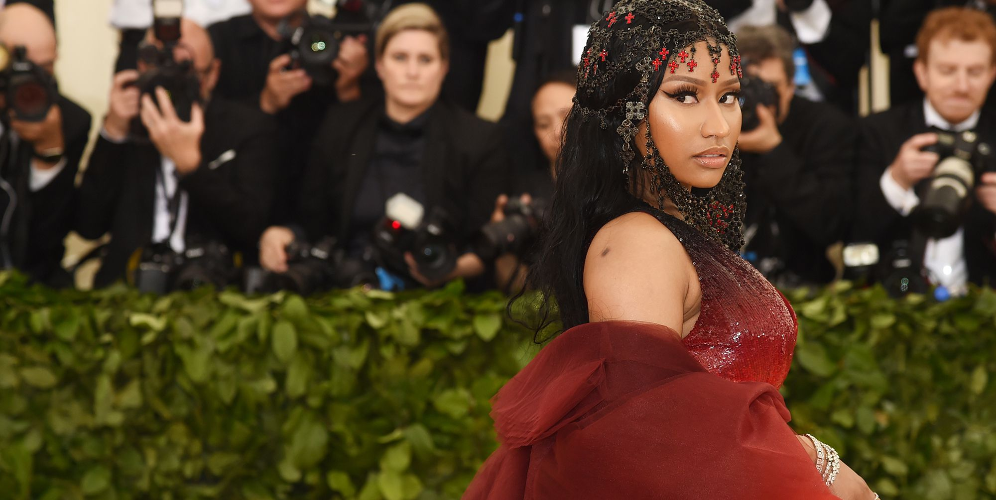 Nicki Minaj Is a Naked, Bedazzled Cleopatra On Her New Queen Album Cover and Its Positively Regal