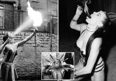 Britain's 1950s fire-eating stars who risked their lives to wow crowds