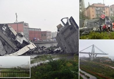 'Dozens dead' as huge section of highway bridge collapses in Italy