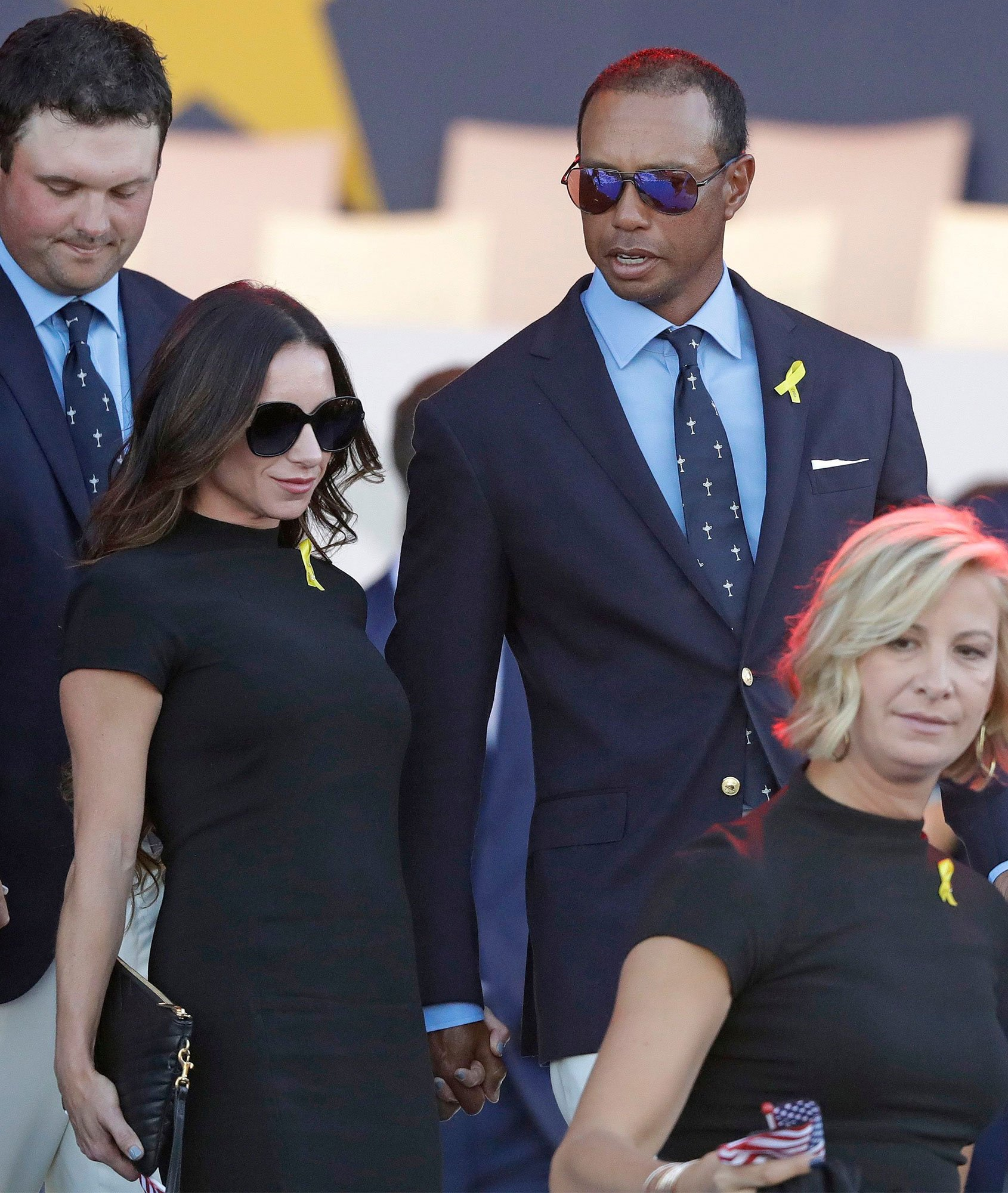 Tiger Woods and Girlfriend Erica Herman Walk Hand-in-Hand at 2018 Ryder ...