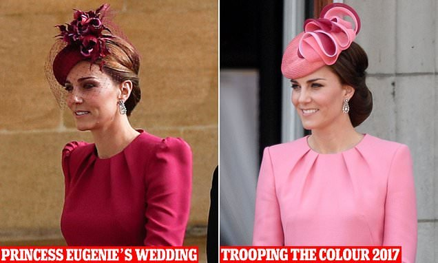 dcc9893b1b7e76 Kate wore same dress to Eugenie s wedding and Trooping the Colour - News  Need News