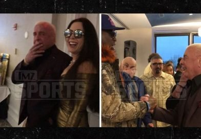Ric Flair Has Surprise 70th Bday w/ Charles Barkley, Todd Gurley & Triple H
