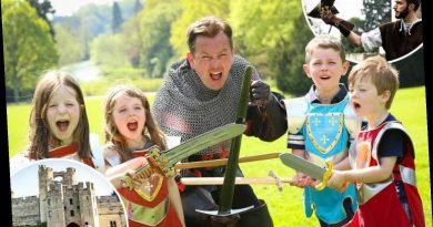 Visit Warwick Castle as it will keep the kids happy with its displays which are fun for the whole family