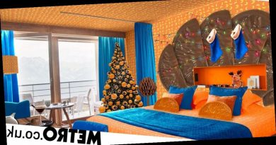 You can book a stay in a chocolate orange themed hotel room for Christmas